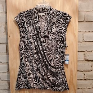 Chaus NY print sleeveless blouse XL